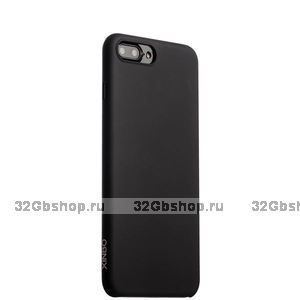 Черный чехол ультратонкий Xinbo для Apple iPhone 7 Plus и защитная пленка