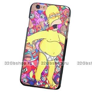 Тонкий пластиковый чехол для iPhone 7 рисунок Гомер Симпсон - Homer Jay Simpson