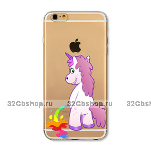 Пластиковый чехол накладка для iPhone 7 / 7s Единорог