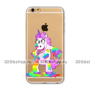 Пластиковый чехол накладка для iPhone 7 рисунок Единорог