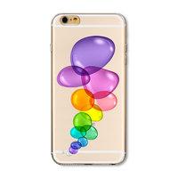 Прозрачный силиконовый чехол для iPhone 7 - Transparent Silicone Case с рисунком Пузыри