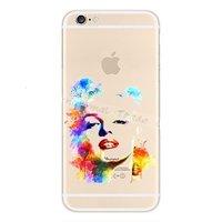Прозрачный силиконовый чехол для iPhone 7 - Transparent Silicone Case с рисунком Marilyn Monroe