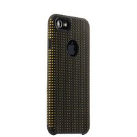 Силиконовый противоударный чехол для iPhone 7 черный c оранжевыми точками COTEetCI Vogue Silicone Case