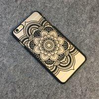 Пластиковый чехол для iPhone 7 рисунок цветок узор черный