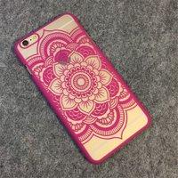 Пластиковый чехол для iPhone 7 рисунок цветок узор малиновый