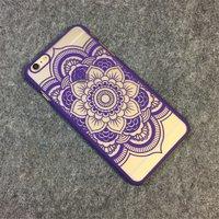 Пластиковый чехол для iPhone 7 рисунок цветок узор фиолетовый