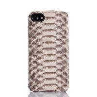 Премиум чехол для iPhone 7 / 7s из кожи змеи - белый питон