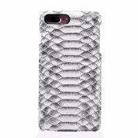 Чехол из кожи змеи для iPhone 7 Plus белый питон