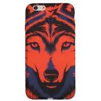 Пластиковый чехол для iPhone 7 покрытие Soft Touch рисунок Красный волк