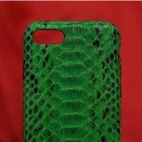 Зеленый чехол для iPhone 7 из кожи змеи питон