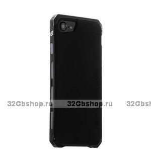 Черный защитный чехол для iPhone 7 / 7s противоударный пластик с стальными вставками Element Case Solace - Black