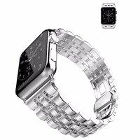Серебряный металлический ремешок для Apple Watch 42мм