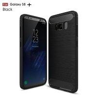 Защитный противоударный чехол для Samsung Galaxy S8 Plus вставки под карбон и силикон