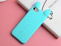 Силиконовый чехол для iPhone 7 - Co Co Cat голубой