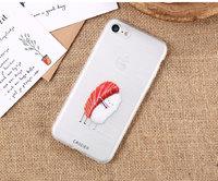 Тонкий прозрачный силиконовый чехол для iPhone 7 Plus Суши обнимашки