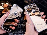 Зеркальный чехол для iPhone 6 Plus с прозрачными краями