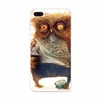 Тонкий прозрачный силиконовый чехол для iPhone 7 Plus рисунок Сова с кофе
