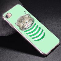 Силиконовый чехол для iPhone 7 / 7s - рисунок Котик в кармане