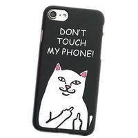 Пластиковый чехол накладка для iPhone 7 с рисунком DONT TOUCH MY PHONE