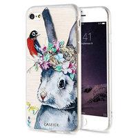 Силиконовый чехол CASEIER для iPhone 7 / 8 -  3D рисунок Кролик