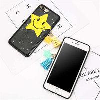 """Черный силиконовый чехол для iPhone 7 Plus (5.5"""") Звезды"""