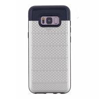 Серебристый защитный чехол для Samsung Galaxy S8 Plus с отделением для карточек