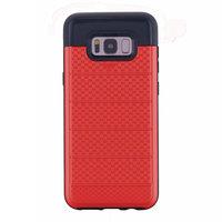 Красный защитный противоударный чехол для Samsung Galaxy S8 Plus с отделением для карточек