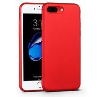 Красный тонкий силиконовый чехол для iPhone 7 Plus с покрытием Soft Touch