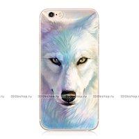 """Силиконовый чехол для iPhone 6 / 6s (4.7"""") с рисунком Белый Волк"""