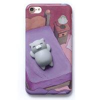 3D Котик спит - силиконовый чехол для iPhone 7 / 7s
