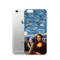Прозрачный силиконовый чехол для iPhone 7 / 7s - Transparent Silicone Case рисунок Сэлфи