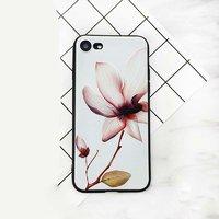 Силиконовый чехол для iPhone 7 / 8 - рисунок Цветы на белом фоне