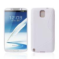Чехол силиконовый для Samsung Galaxy Note 3 N9000 жесткий белый - S Style Case