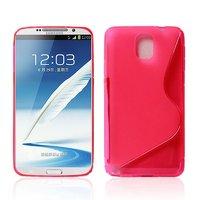 Чехол силиконовый для Samsung Galaxy Note 3 N9000 жесткий розовый - S Style Case