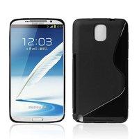 Чехол силиконовый для Samsung Galaxy Note 3 N9000 жесткий черный - S Style Case Black