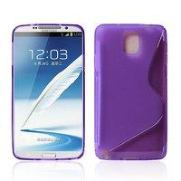 Чехол силиконовый для Samsung Galaxy Note 3 N9000 жесткий фиолетовый - S Style Case