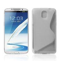 Чехол силиконовый для Samsung Galaxy Note 3 N9000 жесткий прозрачный - S Style Case
