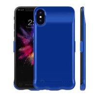 Синий чехол аккумулятор для iPhone X