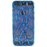 Накладка Chrome Blue Heart Case для iPhone 5 / 5s / SE голубое сердце