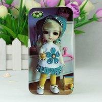 Чехол накладка со стразами Korean Girl Doll Crystal Case для iPhone 5 / 5s / SE девочка в комнате