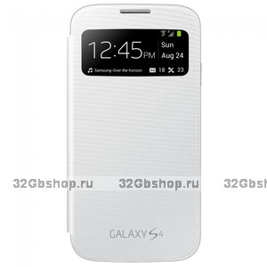 Чехол S View Cover White для Samsung Galaxy S4 mini белый