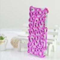 Накладка с узором Chrome Flower pink для iPhone 5 / 5s / SE розовая