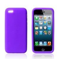 Cиликоновый чехол накладка для iPhone 5c фиолетовый