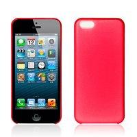 Ультратонкий чехол накладка для iPhone 5c красный