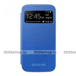 Чехол-обложка с окном S View Cover Blue для Samsung Galaxy S4 mini голубой