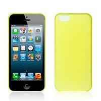 Ультратонкий чехол накладка для iPhone 5c желтый