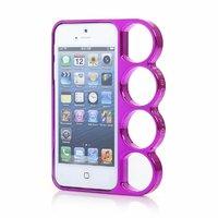 Чехол бампер кастет для iPhone 5 / 5s / SE - Marmoter Chrome Knuckle Bumper Pink - розовый