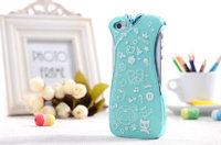 Чехол накладка для iPhone 5 / 5s / SE голубое платье