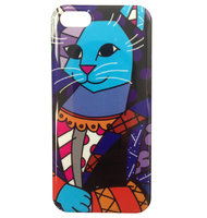 Чехол накладка для iPhone 5 / 5s / SE граффити кот - Graffiti Cat Case