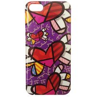Чехол накладка для iPhone 5 / 5s / SE граффити сердце - Graffiti Heart Case
